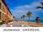 vinaroz playa del forti beach... | Shutterstock . vector #1345352141