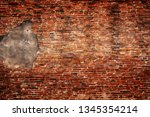 detailed grunge red brick wall... | Shutterstock . vector #1345354214