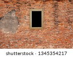 old wooden frame on the grunge... | Shutterstock . vector #1345354217