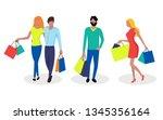 vector set of people shoping   Shutterstock .eps vector #1345356164