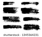 painted grunge stripes set.... | Shutterstock .eps vector #1345364231