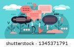 conversation vector... | Shutterstock .eps vector #1345371791