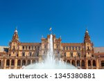 fountain in the magnificent... | Shutterstock . vector #1345380881