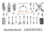 boho style vector collection... | Shutterstock .eps vector #1345392551