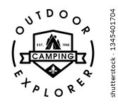 vintage camping and outdoor...   Shutterstock .eps vector #1345401704