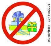gift multi colored boxes with...   Shutterstock .eps vector #1345403201