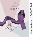 purple day for epilepsy...   Shutterstock .eps vector #1345409144