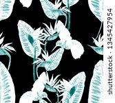 watercolor seamless pattern...   Shutterstock . vector #1345427954