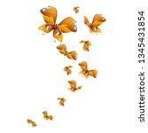 beautiful yellow butterflies ...   Shutterstock . vector #1345431854