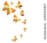 beautiful yellow butterflies ...   Shutterstock . vector #1345431857