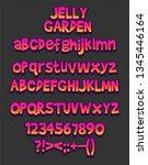 cartoon font   mobile game set... | Shutterstock .eps vector #1345446164