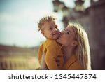 eternal love of mother and son. ... | Shutterstock . vector #1345447874