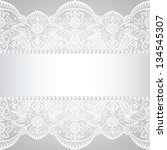pearl frame and lace background | Shutterstock . vector #134545307