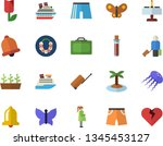 color flat icon set tulip flat... | Shutterstock .eps vector #1345453127