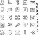 thin line icon set   parking...   Shutterstock .eps vector #1345453787