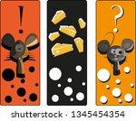 mouse animal bookmark | Shutterstock .eps vector #1345454354