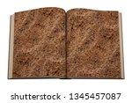 open book of brown soil texture ... | Shutterstock . vector #1345457087