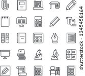 thin line icon set   contract... | Shutterstock .eps vector #1345458164