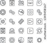 thin line icon set   ticket... | Shutterstock .eps vector #1345458167