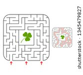 abstact labyrinth. game for...   Shutterstock .eps vector #1345479827