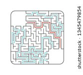 abstact labyrinth. game for...   Shutterstock .eps vector #1345479854