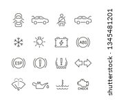 car dashboard related icons ... | Shutterstock .eps vector #1345481201
