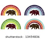 californian bear in rainbow | Shutterstock .eps vector #13454836