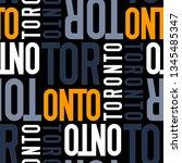 toronto  canada seamless... | Shutterstock . vector #1345485347