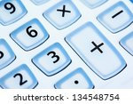 number and  sign on calculator... | Shutterstock . vector #134548754