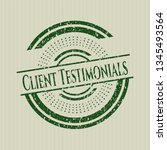 green client testimonials... | Shutterstock .eps vector #1345493564