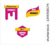 sale discount icons   Shutterstock .eps vector #1345508174