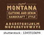 montana. vintage serif font.... | Shutterstock .eps vector #1345510694