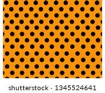 black polka dot pattern on... | Shutterstock .eps vector #1345524641