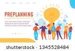 vector concept preplanning... | Shutterstock .eps vector #1345528484