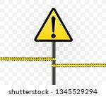 danger sign electricity. hazard ...   Shutterstock .eps vector #1345529294