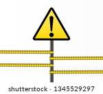 danger sign electricity. hazard ...   Shutterstock .eps vector #1345529297