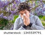 pollen allergy. danger  tennage ... | Shutterstock . vector #1345539791