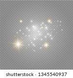 white sparks glitter special... | Shutterstock .eps vector #1345540937