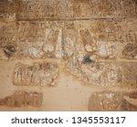 hieroglyph texture from egypt... | Shutterstock . vector #1345553117