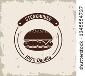 steakhouse bbq poster | Shutterstock .eps vector #1345554737