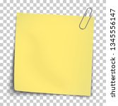 vector paper mockup of yellow...   Shutterstock .eps vector #1345556147