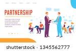 vector concept partnership... | Shutterstock .eps vector #1345562777