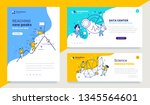 vector set of template with... | Shutterstock .eps vector #1345564601