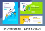 vector set of template with... | Shutterstock .eps vector #1345564607