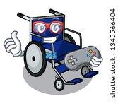 gamer gamer cartoon wheelchair... | Shutterstock .eps vector #1345566404