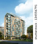 buildings made in 3d | Shutterstock . vector #134556791