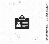 badge  personality   vector... | Shutterstock .eps vector #1345568324