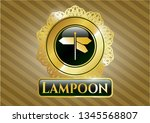 gold badge or emblem with...   Shutterstock .eps vector #1345568807