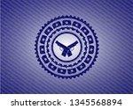 crossed pistols icon inside... | Shutterstock .eps vector #1345568894