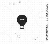 lamp  idea  vector best flat... | Shutterstock .eps vector #1345570607